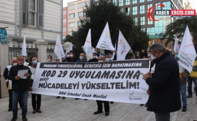HDK Emek Meclisi salgın fırsatçılığını protesto etti