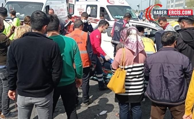 Diyarbakır'da trafik kazası: 5'i ağır 7 yaralı