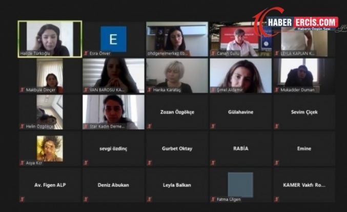Van'da kadınlardan İstanbul Sözleşmesi konulu online panel