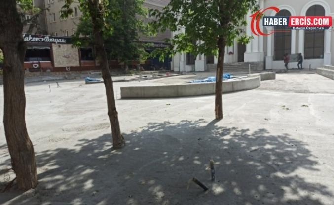 Van'da Kayyım ağaçları betona gömdü