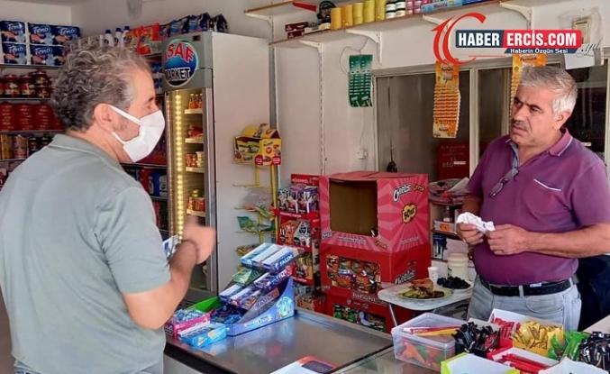 Erciş'te 'Barış yaşatır' mitingine davet için bildiri dağıtıldı