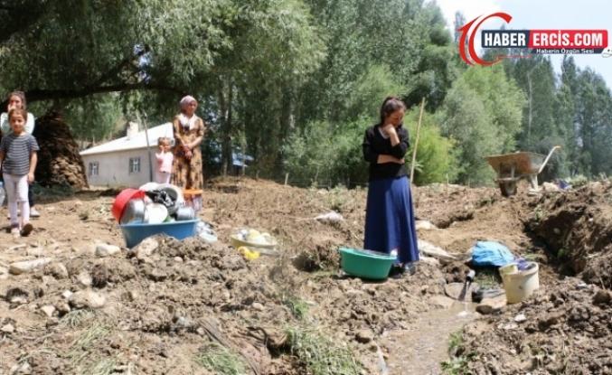 Van'da Selden etkilenen köylülerden köprü ve kanal talebi