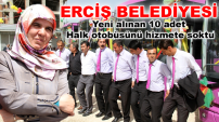 Erciş Belediyesi yeni alınan 10 Adet halk otobüsünün tanıtımını yaptı...